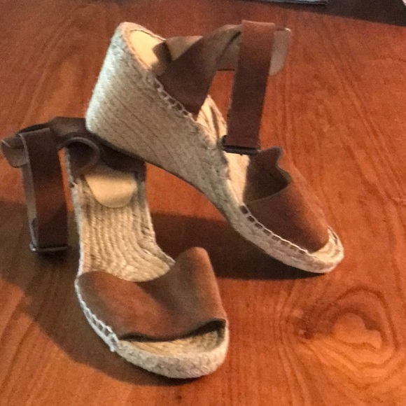 J. Crew Shoes - J. Crew Suede Wedge Sandals
